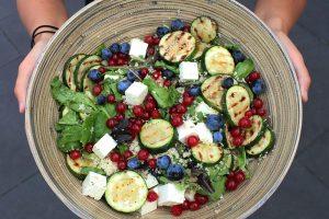 Feta salde met zacht fruit