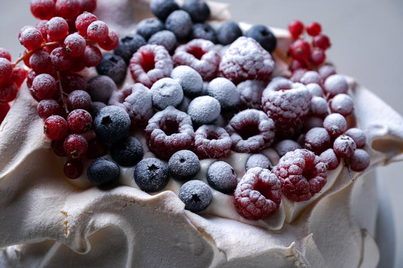 Pavlova met zacht fruit